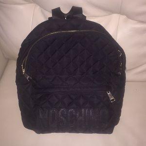 Black Moschino Backpack